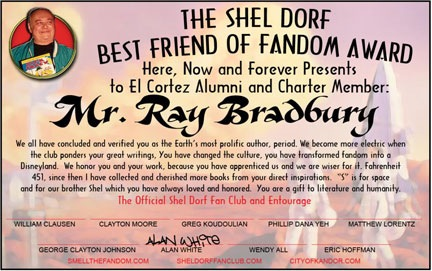 Ray Bradbury-Comic Con Award
