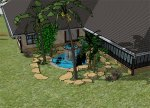 courtyard - (detail) Google Sketchup 2010
