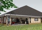 muscle car garage - (detail) Google Sketchup 2010