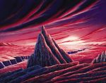 "Morris Scott Dollens - ""Alien World"" Painting"