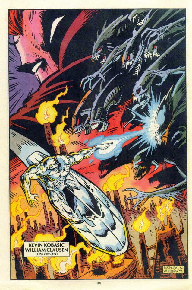 1996 Silver Surfer Pin-up - Color - William Clausen