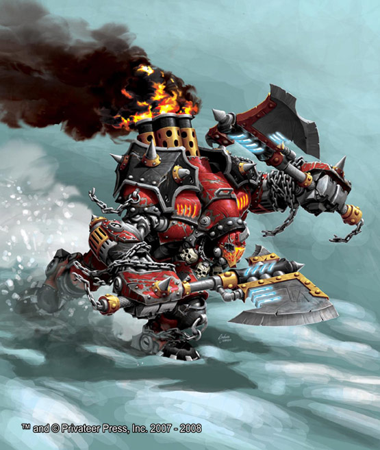 26-Drago-Warmachine-Digital-Painting-Privateer-Press