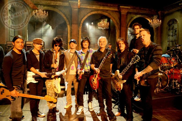 Jeff-Beck-Jimmy Page-Ron Wood-Joe Perry-Flea-Metallica