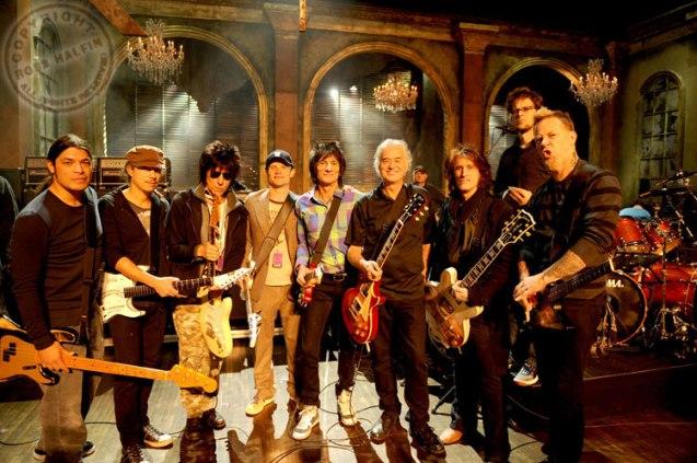 Jeff-Beck-Jimmy Page-Ron Wood-Joe Perry-Flea-Metallica