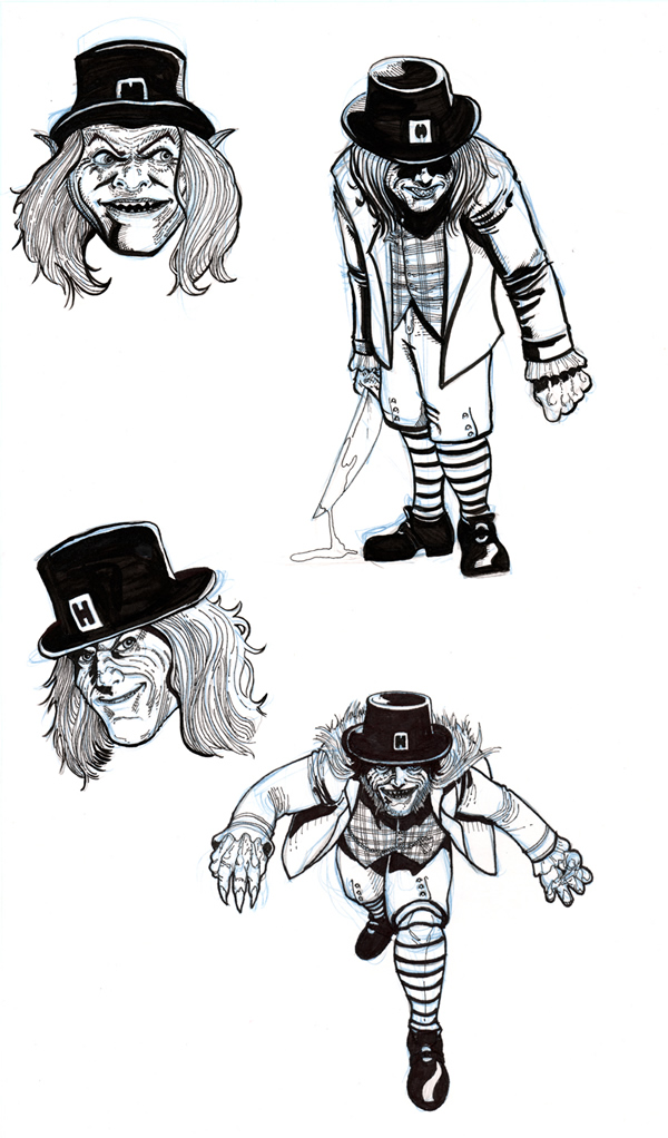 Leprechaun Process art_1 Cris Carter