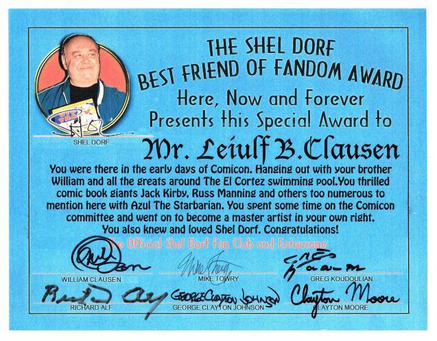 Leiulf Shel Dorf Award