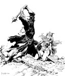 Frank Frazetta-BW Witch King