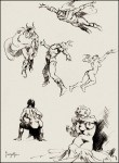 Frank Frazetta-InkSketches-2